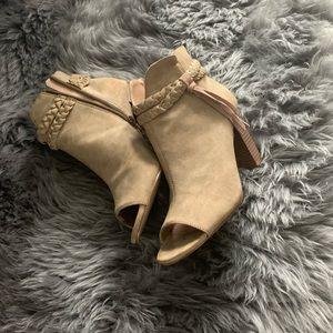 Xoxo boots/booties camel tone